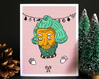 Funny Christmas Card, Funny holiday card, Christmas card, Holiday card, Weird Christmas, Oompa Loompa, Willy Wonka, Gift idea, Idea for men