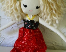 Handmade Cloth heirloom Doll OOAK