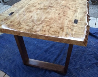Live Edge Slab Table with Legs