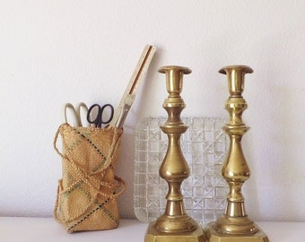 Versatile Hanging Basket Purse Bottle Holder Lantern Plant Holder Desk Organizer Pen Holder Ethnic Folk Boho Basket Decor Woven Basket Purse