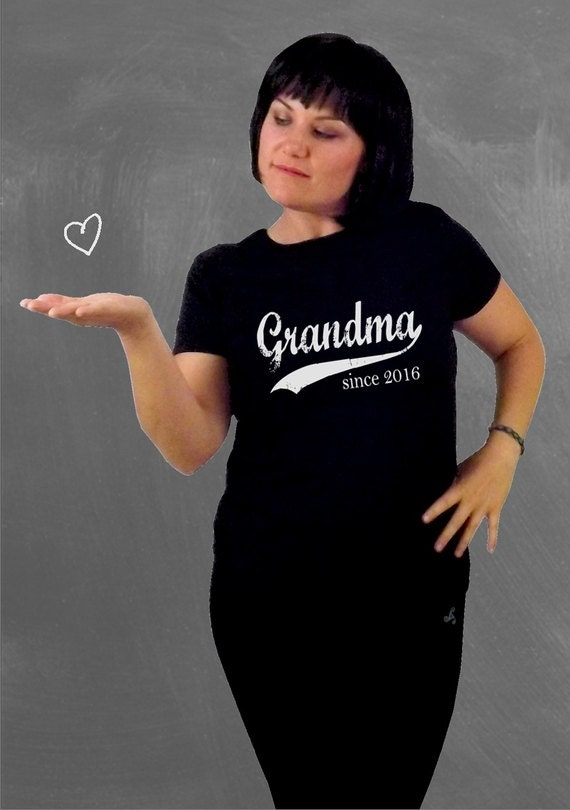 Grandma since any year, screenprinted t-shirt, grandmother gift, mother's day, womens fitted tee