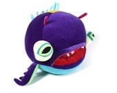 "Plush Sea Creature ""Leasle Bottomfeeder"" Cotton Monster"