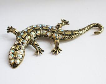 Glitzy Glam Lizard Brooch