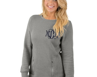 Monogrammed Sweatshirt Pullover with Pockets Gift for her, Holiday gift