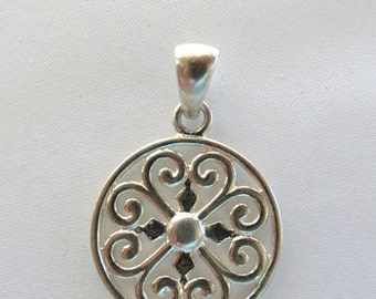 Filigree Charm, Sterling Silver Charms