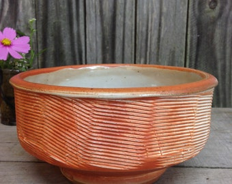 Medium Serving Bowl Soda Fired Pottery Ready to Ship