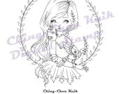 Peace For Everyone - Instant Download / Steampunk Dove Peace Bay Leaf Fantasy Fairy Girl Art by Ching-Chou Kuik