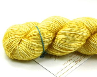 Sunbeam--hand dyed sock weight yarn, merino and silk single ply, (438yds/100gm)