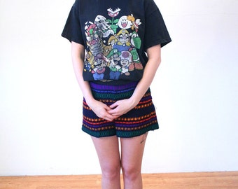 Gamer Girl, 80s Super Mario Brothers T-shirt, 1980s Distressed Mario Brother Game Tee, Size M