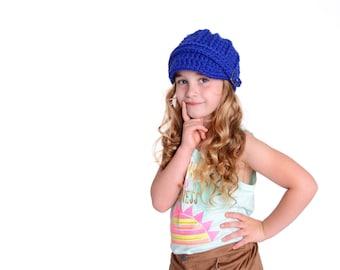 Toddler Girl Hat Toddler Boy Hat 1T to 2T Cobalt Blue Toddler Hat Toddler Girl Beanie Toddler Boy Beanie Toddler Beanie Crochet Winter Hat