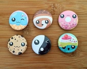 Kawaii Dessert Buttons