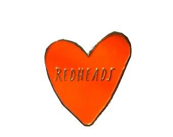 Redheads enamel pin
