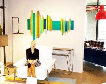 3D Wall Sculptures | Modern Geometric Wall Art | Abstract Painting | Wood Wall Art | Custom Corporate Artwork | Rosemary Pierce Modern Art