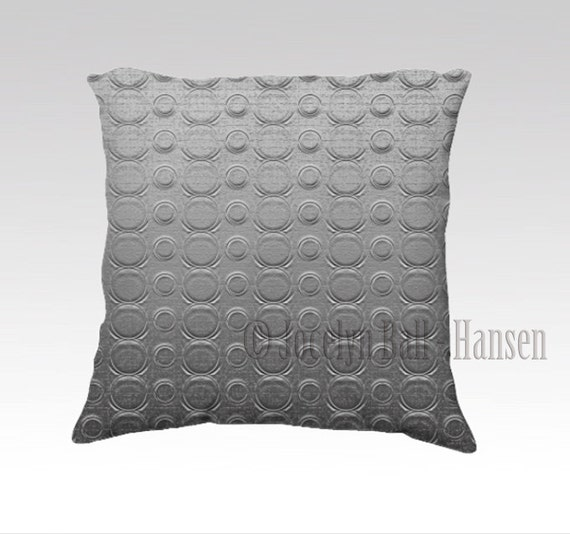 Industrial Throw Pillow Cover Digitally Created Embossed