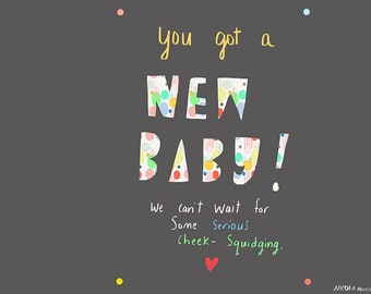 You got a NEW BABY card cc163
