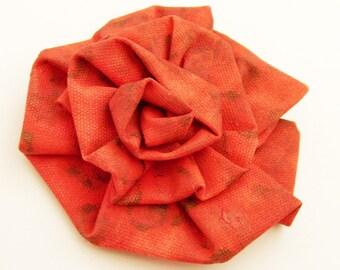 Original Art Poppy Red Brooch - Pin / Orange, Fusion Coral & Poppy Red Brooch / Art Bloom Series - Wearable Art Brooch / Gift Under 50