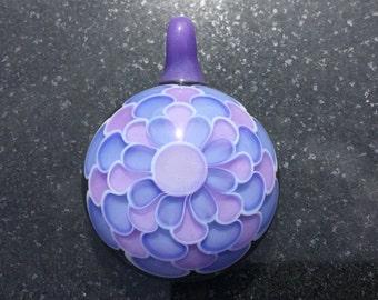 Glass Dot Stack Pendant Bead ---Majestic Glass Arts---