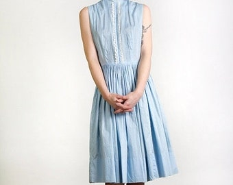 ON SALE Baby Blue Dress with Lace