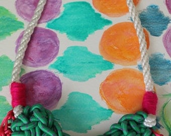 Crochet Bungee Cord Necklace