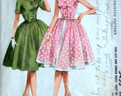 "Vintage 60's McCall's 5453 Sewing Pattern, Junior ""Easy To Sew"" Shirtwaist Dress, Size 13, Bust 33, Rockabilly"