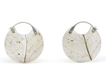 Leaf Encasement Earrings- Small