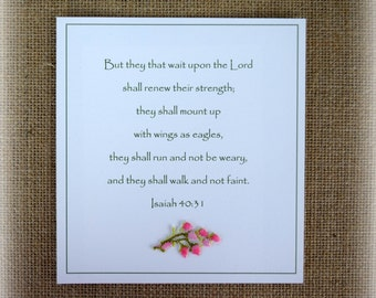 Christian Encouragement Card Get Well Card Suitable for Framing Bible Verse Scripture Card Prayer Card Inspirational Card Isaiah 40:31