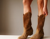 1980s Texas Steer Cowboy Boots~Size 7 to 7-1/2