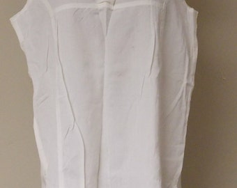 vintage lot of 5 never worn Moroccan off white sleeveless tops cotton rayon