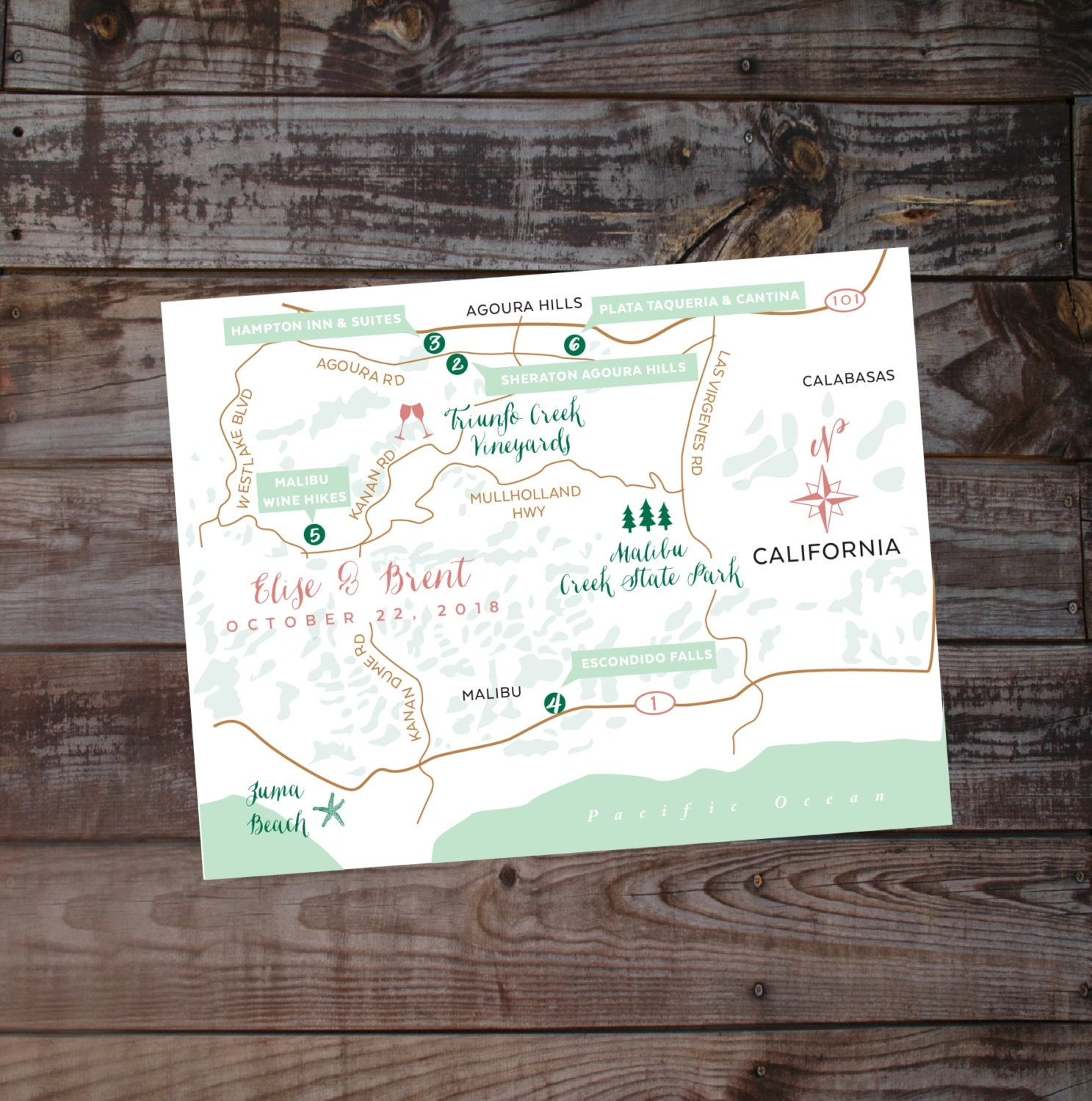 Map Hand Drawn Map Wedding Map Event Map Printed Maps Diy