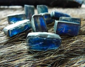 3 DAY SALE Raw kyanite studs | Kyanite post earrings | Brazilian jewelry | Rough Kyanite silver earrings | Crystal stud earrings | Blue ston