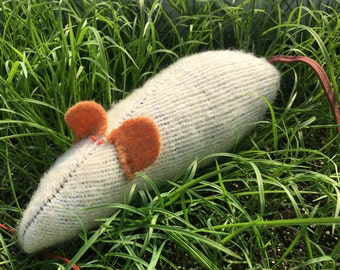 Eco friendly pet toy, Earth Day, recycled wool sock organic catnip mouse, mice cat toys, READY TO SHIP