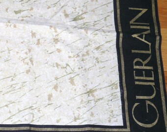 1991 GUERLAIN Paris Trade Show Square Table Cloth 55 x 54