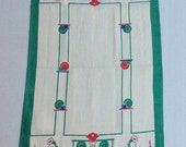 Vintage Art Deco Towel The Staff is Ready to Serve You MWT