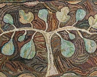 Fig Tree rug hooking pattern