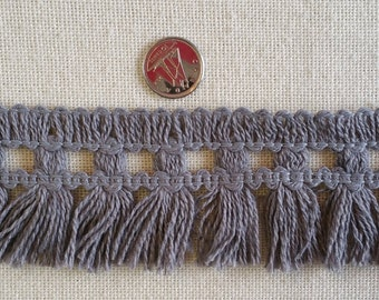 "FR003 ~ Gray trim 2"" wide Cotton fringe"