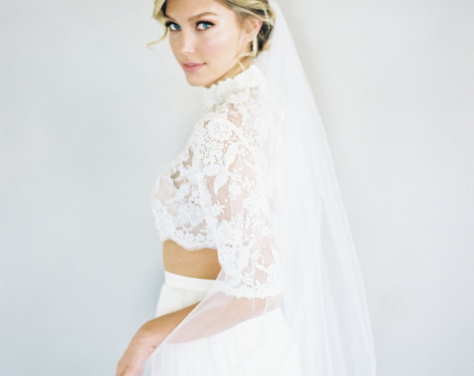 SALE Diamond White Bridal Illusion Tulle 42 Inch With 34 Inch Two Tier Wedding Veil 0802