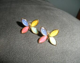 Vintage Signed Trifari Mod Butterfly Earrings