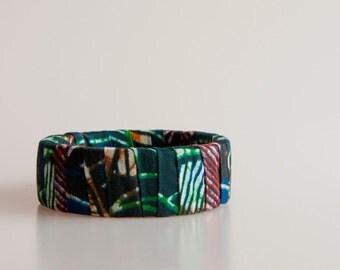 African print fabric bracelet