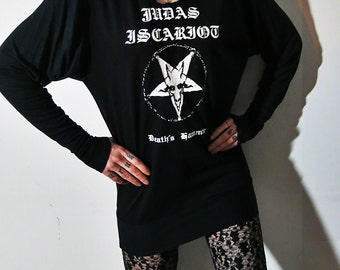 Judas Iscariot Slouch Tunic Top Hoodie