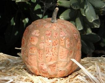 Rustic Mosaic Pumpkin