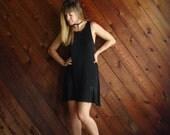 30% OFF ... Little Black Mini Dress - Vintage 90s BCBG - SMALL S - Circle Shift Dress