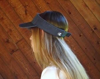 90s Champion Navy Blue Cotton Visor Hat