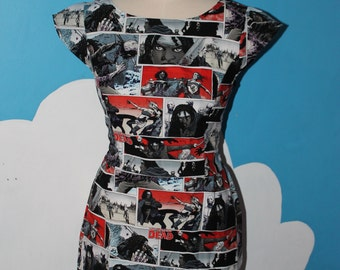 walking dead comic tea dress.