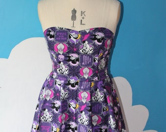 purple disney villains sweet heart dress - all sizes