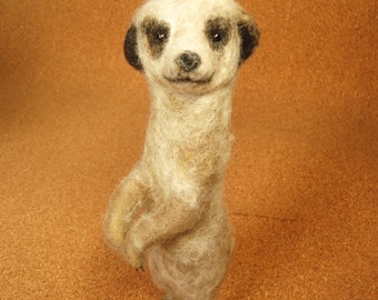 Meerkat Pup Needle Felt