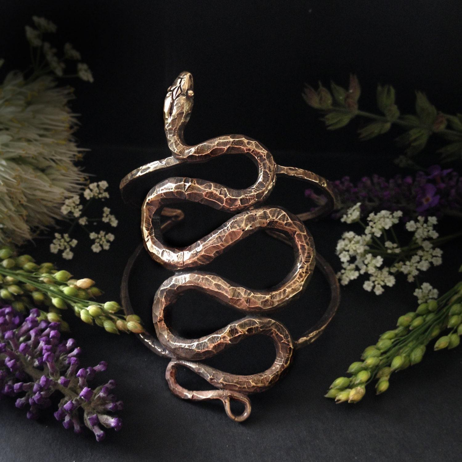 Snake Cuff Inspired By Garden Snakes Asclepius The Serpent