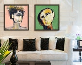 Large Wall Art, Print Set, Square, Abstract Art, Contemporary Art, Extra Large Wall Art