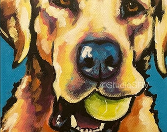 Labrador 8x10 Original painting