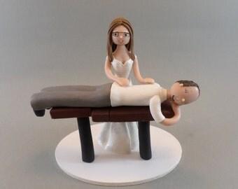 Custom Handmade Chiropractor Wedding Cake Topper