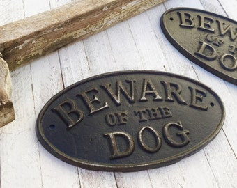 Puppy Sign , Beware of Dog Sign, Vintage Inspired Sign, Black Decor,  Retro, Man Cave, Large Dog Sign, Pet Gift
